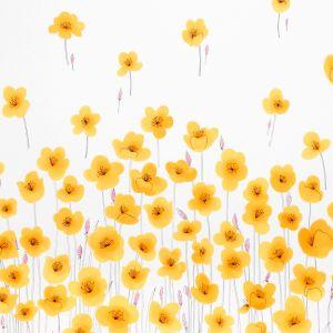 178390 WILD POPPIES Orange Schumacher Fabric