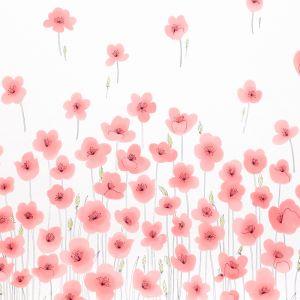178391 WILD POPPIES Pink Schumacher Fabric
