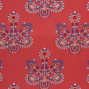 74451 ESTRELLA Vermilion Schumacher Fabric