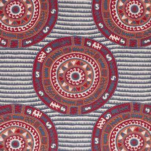 74470 CORFU Navy Multi Schumacher Fabric