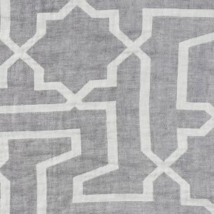 75870 ARABESQUE MAZE SHEER Grey Schumacher Fabric