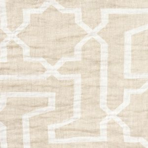 75871 ARABESQUE MAZE SHEER Natural Schumacher Fabric