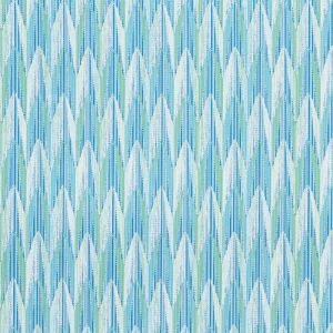 75910 VERDANT Aqua Leaf Schumacher Fabric