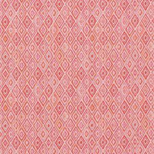 75922 DIAMOND STRIE Pink Orange Schumacher Fabric
