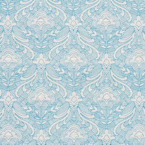 76160 HENDRIX EMBROIDERY Blue Schumacher Fabric