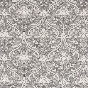 76162 HENDRIX EMBROIDERY Black Schumacher Fabric
