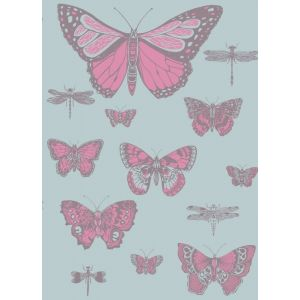 103/15062-CS BUTTERFLIES & DRAGONFLIES Pink On Blue Cole & Son Wallpaper