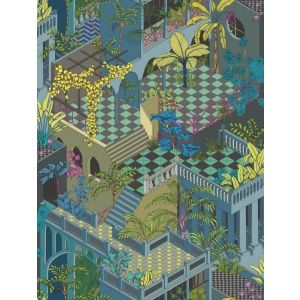 105/4018-CS MIAMI Navy And Pink Cole & Son Wallpaper