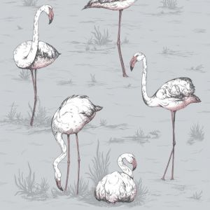 112/11040-CS FLAMINGOS Grey Cole & Son Wallpaper