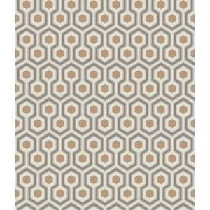 95/3017-CS HICKS HEXAGON Gold Taupe Cole & Son Wallpaper