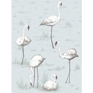 95/8047-CS FLAMINGOS Charcoal Aqua Cole & Son Wallpaper