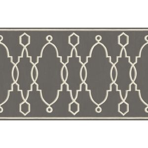 99/3015-CS PARTERRE BORDER Charcoal Cole & Son Wallpaper