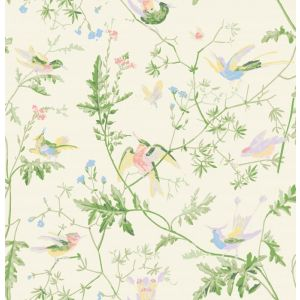 F111/1002-CS HUMMINGBIRDS Cream Soft Multi Cole & Son Fabric