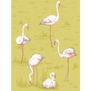F111/3008-CS FLAMINGOS Ochre Cole & Son Fabric