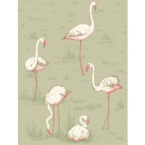 F111/3009-CS FLAMINGOS Olive Cole & Son Fabric