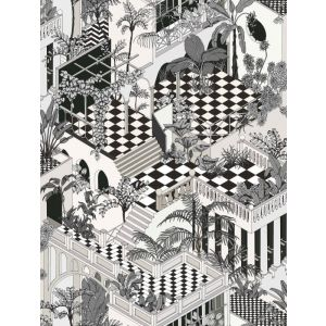 F111/4014-CS MIAMI Soot Snow Cole & Son Fabric