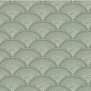 F111/8029-CS FEATHER FAN Old Olive Cole & Son Fabric