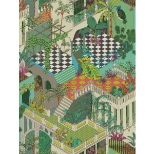 F111/4013-CS MIAMI Olive Multi Cole & Son Fabric