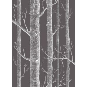 F111/7027-CS WOODS Parchment On Charcoal Cole & Son Fabric