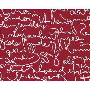 B8 00020581 THE LETTERS Red Scalamandre Fabric