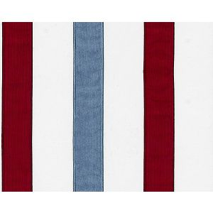 B8 00880585 SKATER Red Blue Scalamandre Fabric