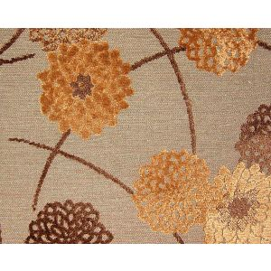 CA 50521260 ZINNIA Tabac Chocolat Old World Weavers Fabric