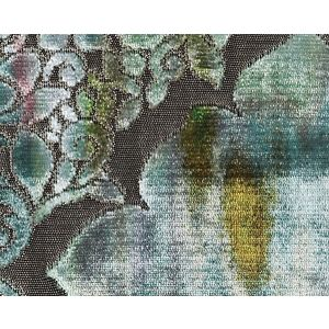 CH 09090659 REGALE Teal Citrine Scalamandre Fabric