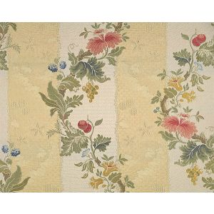 CL 000126401 VILLA LANTE STRIPE Multi On Jasmine Bisque Scalamandre Fabric