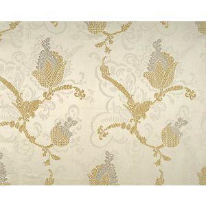 CL 000126715 VIVALDI Silver Gold On Ivory Scalamandre Fabric