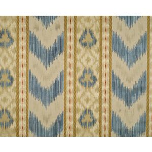 CL 000226416 UNGHERESE RIGATO Multi Blues Creams Scalamandre Fabric