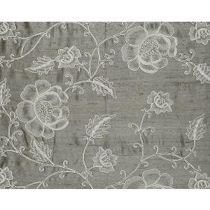 CL 000226818 FLOWDERY White On Grey Scalamandre Fabric