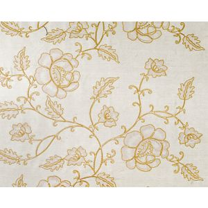 CL 000326818 FLOWDERY Beige On White Scalamandre Fabric