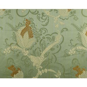CL 000426715 VIVALDI Gold Linen On Jade Scalamandre Fabric