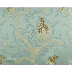 CL 000526715 VIVALDI Gold Linen On Aquamarine Scalamandre Fabric