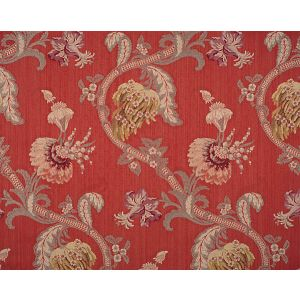 CL 000526721 ROCAILLE Multi On Red Scalamandre Fabric