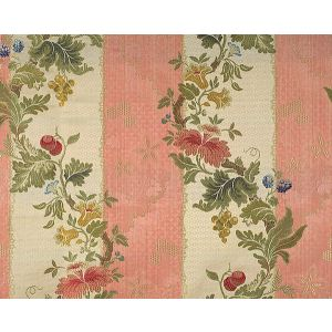 CL 000626401 VILLA LANTE STRIPE Multi On Rose Scalamandre Fabric