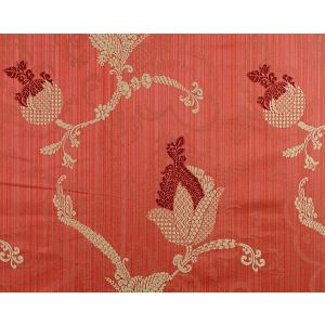 CL 000626715 VIVALDI Maroon Linen On Red Scalamandre Fabric