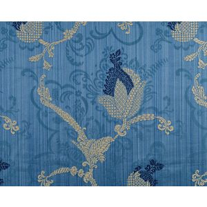 CL 000826715 VIVALDI Navy Linen On Blue Scalamandre Fabric