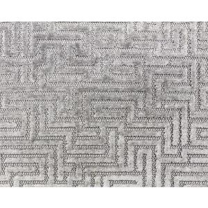 F3 00037002 VELLUTO LABIRINTO Silver Old World Weavers Fabric