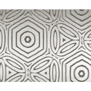 F3 00048018 TRINITA DEI MONTI GEO Taupe Old World Weavers Fabric