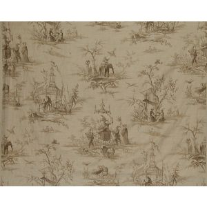 FB 0006A02A VOYAGE EN CHINE Beige Beige Old World Weavers Fabric