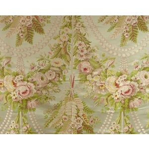 H0 00011669 FOUGERES-H0 Rose Green/Ivory Scalamandre Fabric
