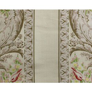 H0 00011671 ROSE & LILAS Lilac Green Ivory Scalamandre Fabric