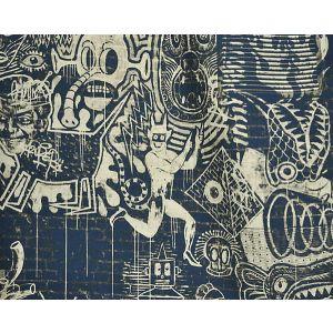 H0 00023455 STREET H0 Indigo Scalamandre Fabric