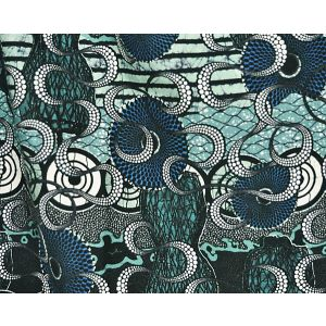 H0 00033452 MELTINGPOT Aqua Scalamandre Fabric