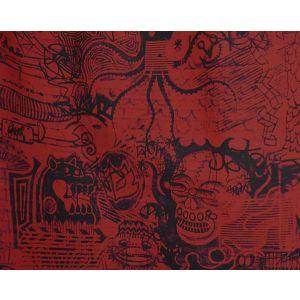 H0 00033455 STREET H0 Rouge Scalamandre Fabric