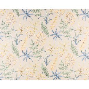 HH 00033803 WETHERSFIELD FERN Khaki Blue Old World Weavers Fabric