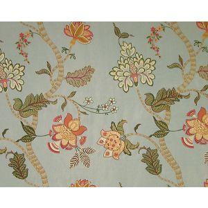 HS 00032064 AMRITA Aqua Tangerine Old World Weavers Fabric
