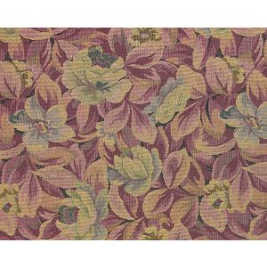 LE 00031586 ROUSSEAU Blue Red Old World Weavers Fabric