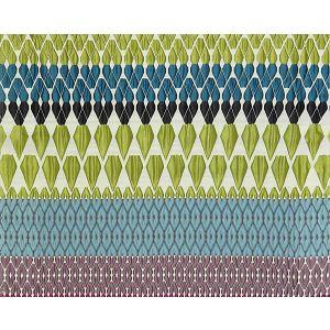 M9 0001CARO CAROLINE Green Turquoise/Purple Old World Weavers Fabric